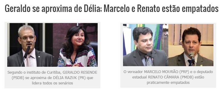 Diário MS, divulga pesquisa sobre a disputa eleitoral à Prefeitura de Dourados/ MS