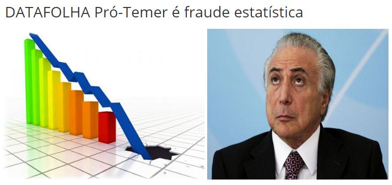 Portal Do Movimento Popular, comenta pesquisa sobre a opinião dos Brasileiros para novas eleições Presidenciais