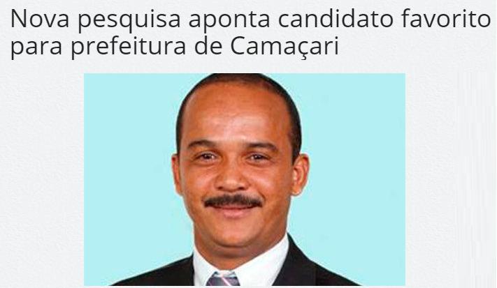 Portal Mídia Bahia divulga pesquisa sobre a disputa eleitoral a Prefeitura de Camaçari