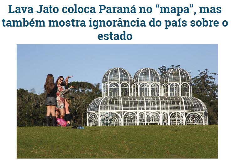Gazeta do Povo comenta em matéria pesquisa realizada pela Paraná Pesquisas