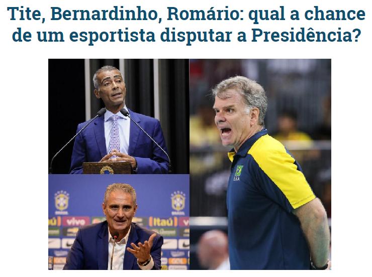 Gazeta do Povo cita em matéria pesquisa realizada pela Paraná Pesquisas sobre novos nomes para candidato a presidente do Brasil