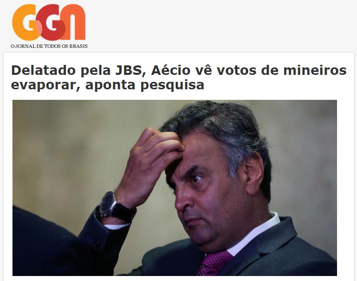 Jornal GGN divulga pesquisa realizada no município de Belo Horizonte/ MG sobre a disputa eleitoral para Presidente do Brasil
