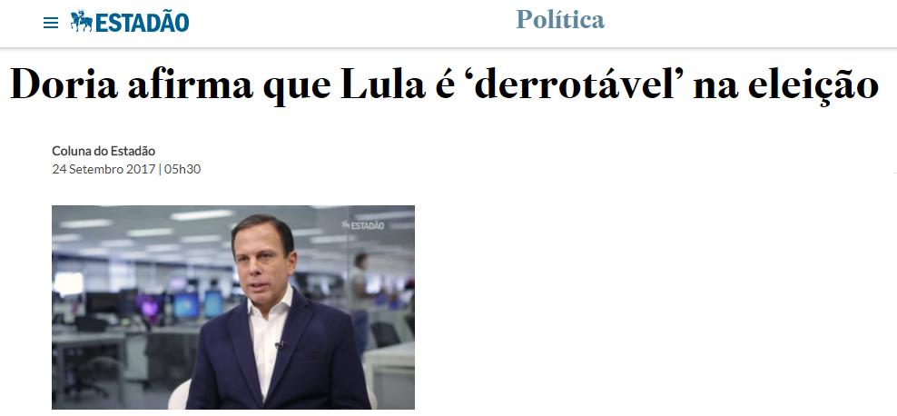 O Estadão cita pesquisa nacional com a opinião dos brasileiros sobre o afastamento da ex-Presidente Dilma Rousseff