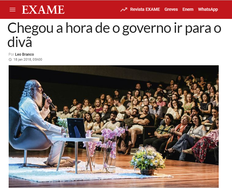 Revista Exame cita em matéria pesquisa nacional realizado pela Paraná Pesquisas