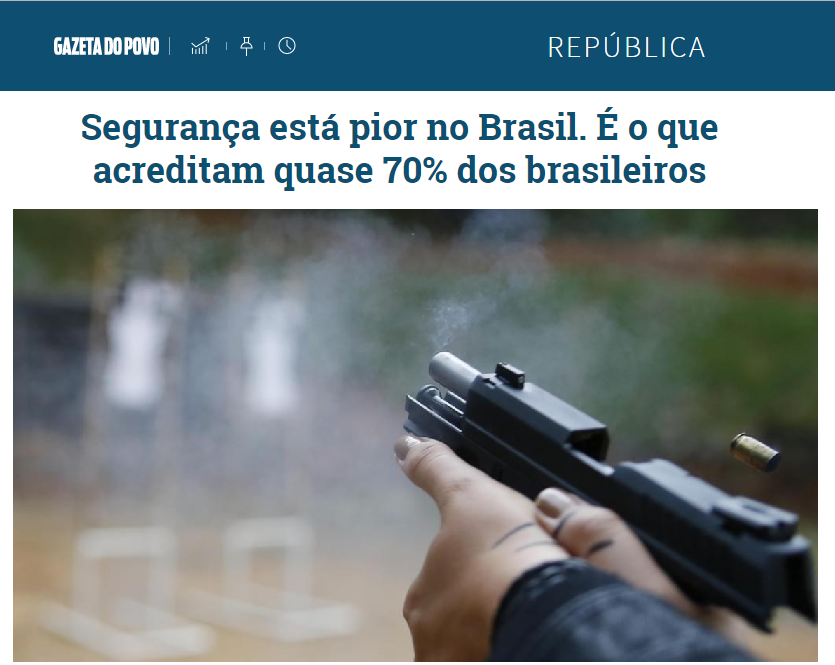 Gazeta do Povo divulga pesquisa realizada pela Paraná Pesquisas sobre a segurança pública nos últimos anos