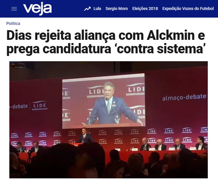 Veja.com – Guilherme Venaglia cita em matéria pesquisa realizada pelo Instituto Paraná de Pesquisas