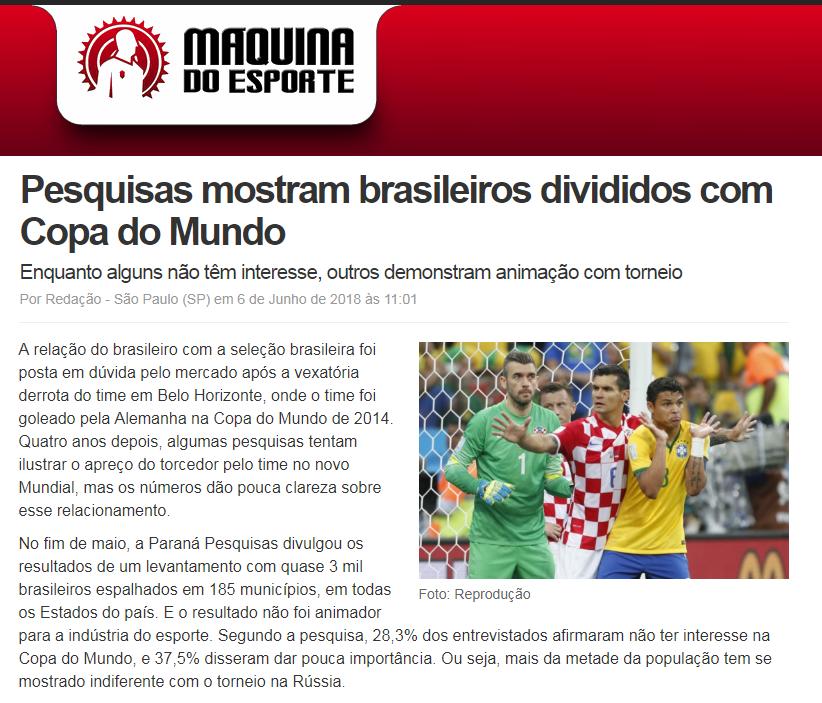 1a2e3376d Máquina do Esporte divulga pesquisa realizado pela Paraná Pesquisas ...
