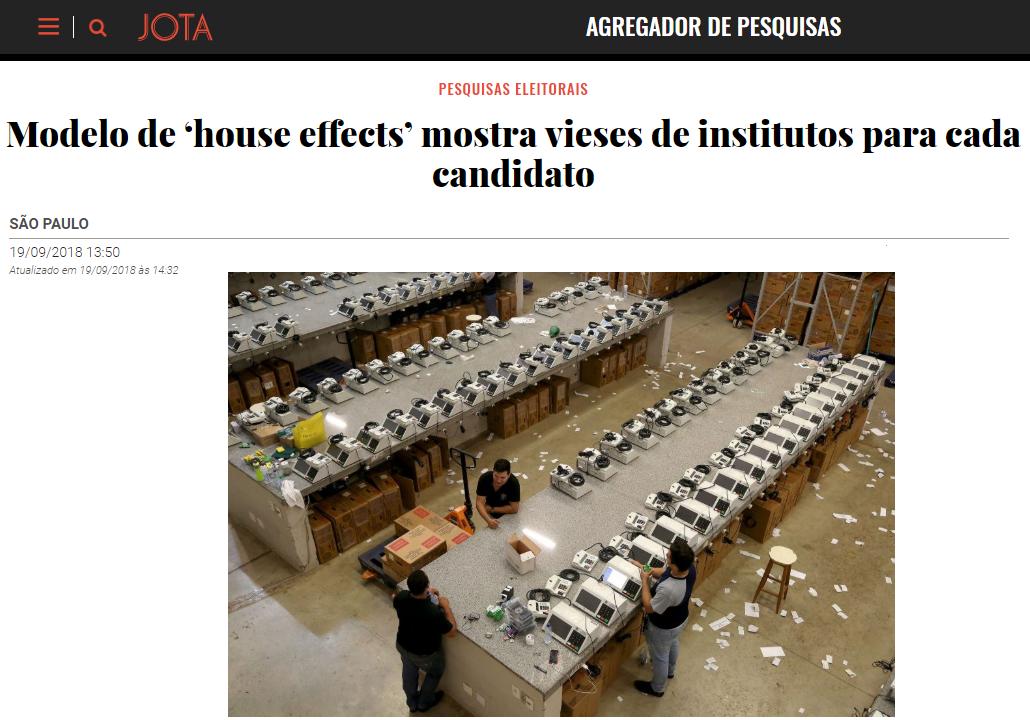 Portal JOTA cita pesquisa realizada pela Paraná Pesquisas