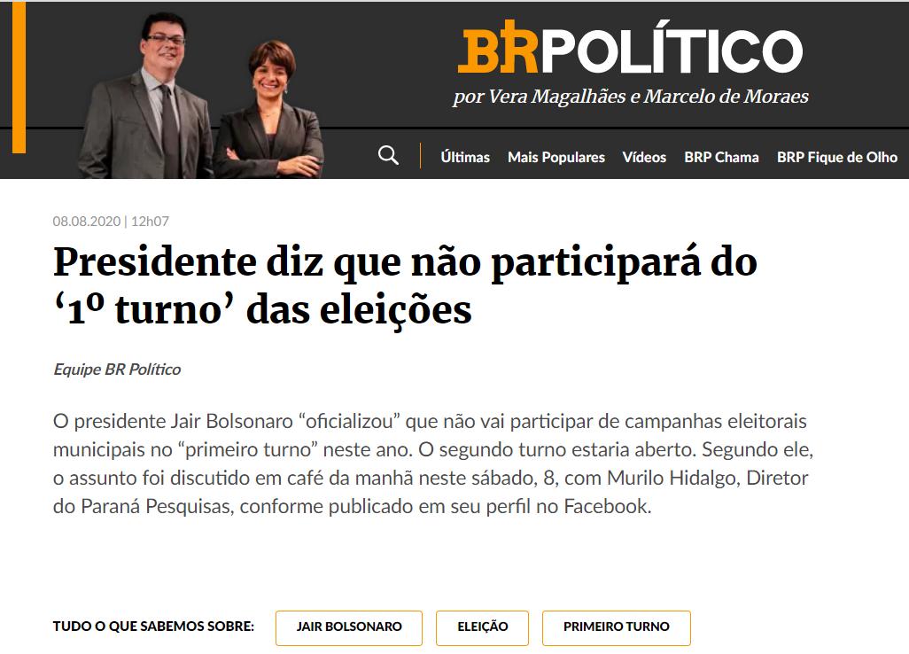 Estadão.com – BR18 cita matéria do Paraná Pesquisas
