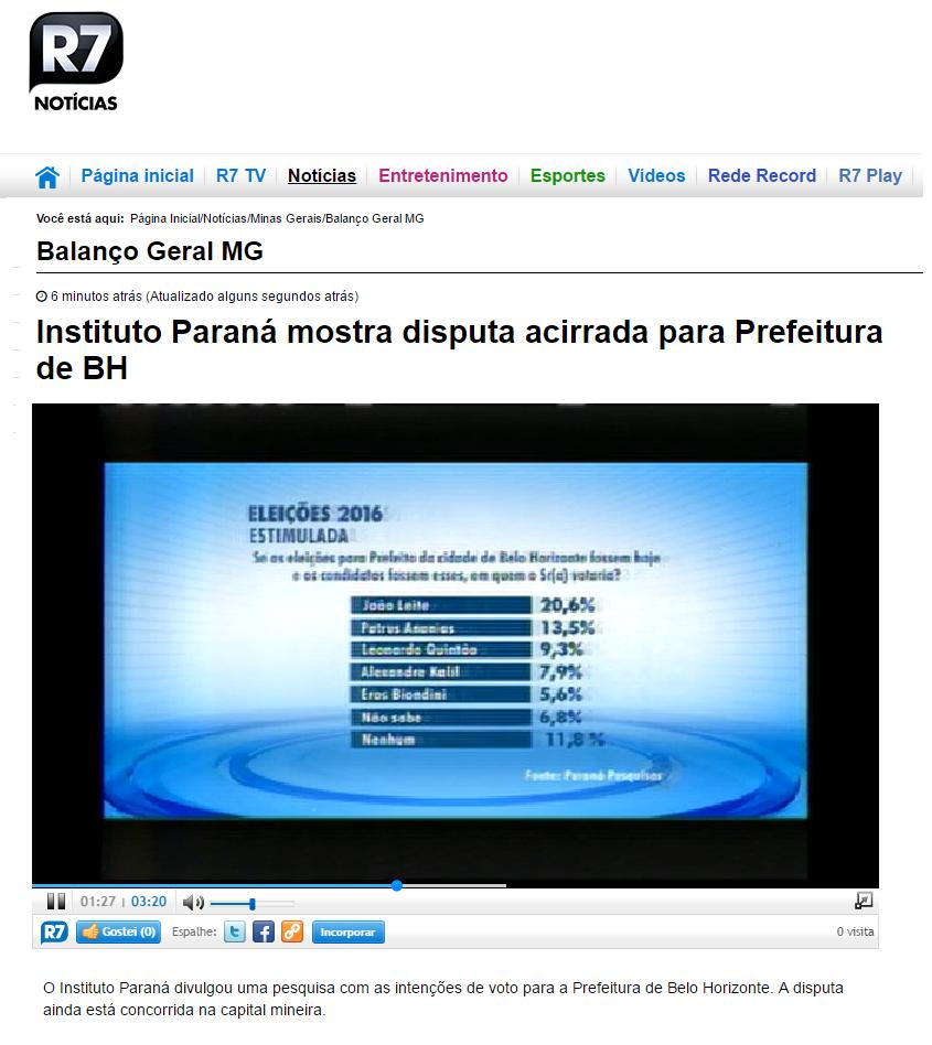 noticia BH portal R7