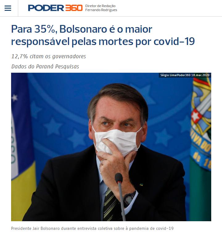 Poder 360 divulga pesquisa realizado pela Paraná Pesquisas