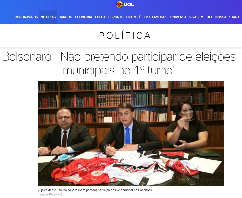 UOL Notícias cita matéria do Paraná Pesquisas