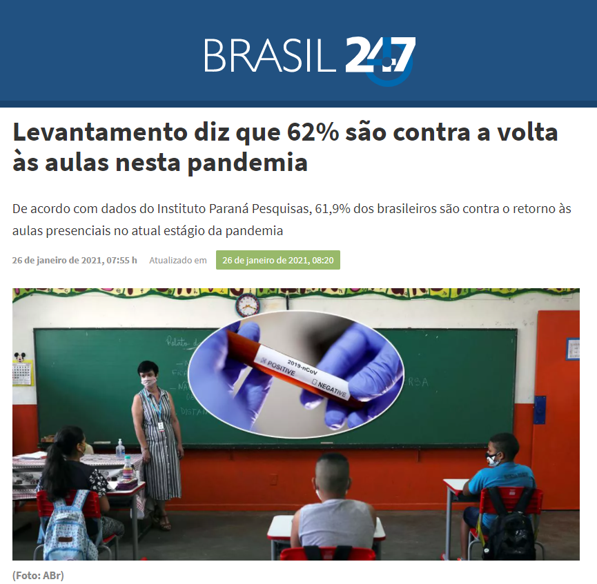 Brasil 247 divulga pesquisa nacional realizado pela Paraná Pesquisas
