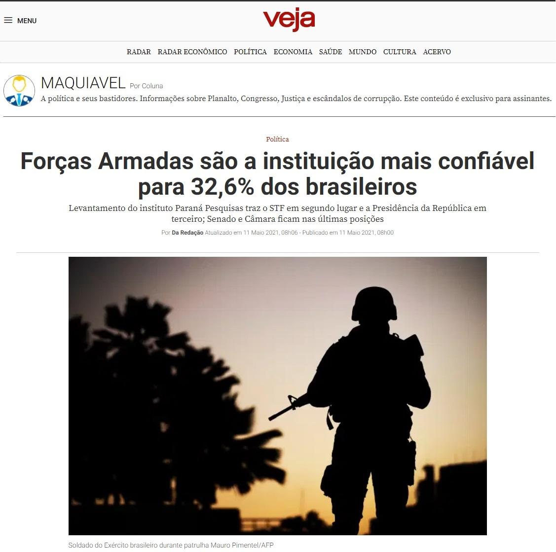 Veja divulga pesquisa realizado pela Paraná Pesquisas