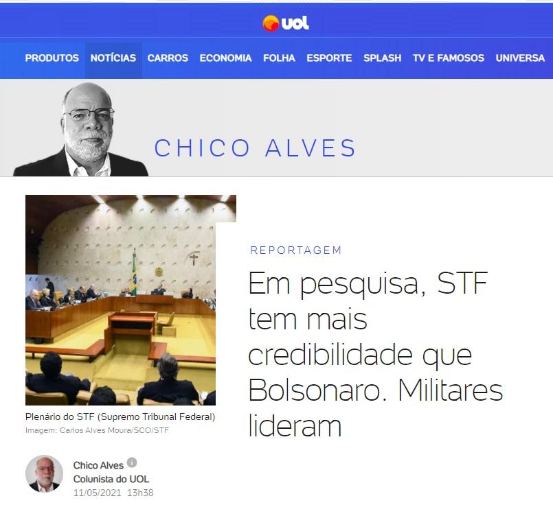 UOL divulga pesquisa realizado pela Paraná Pesquisas