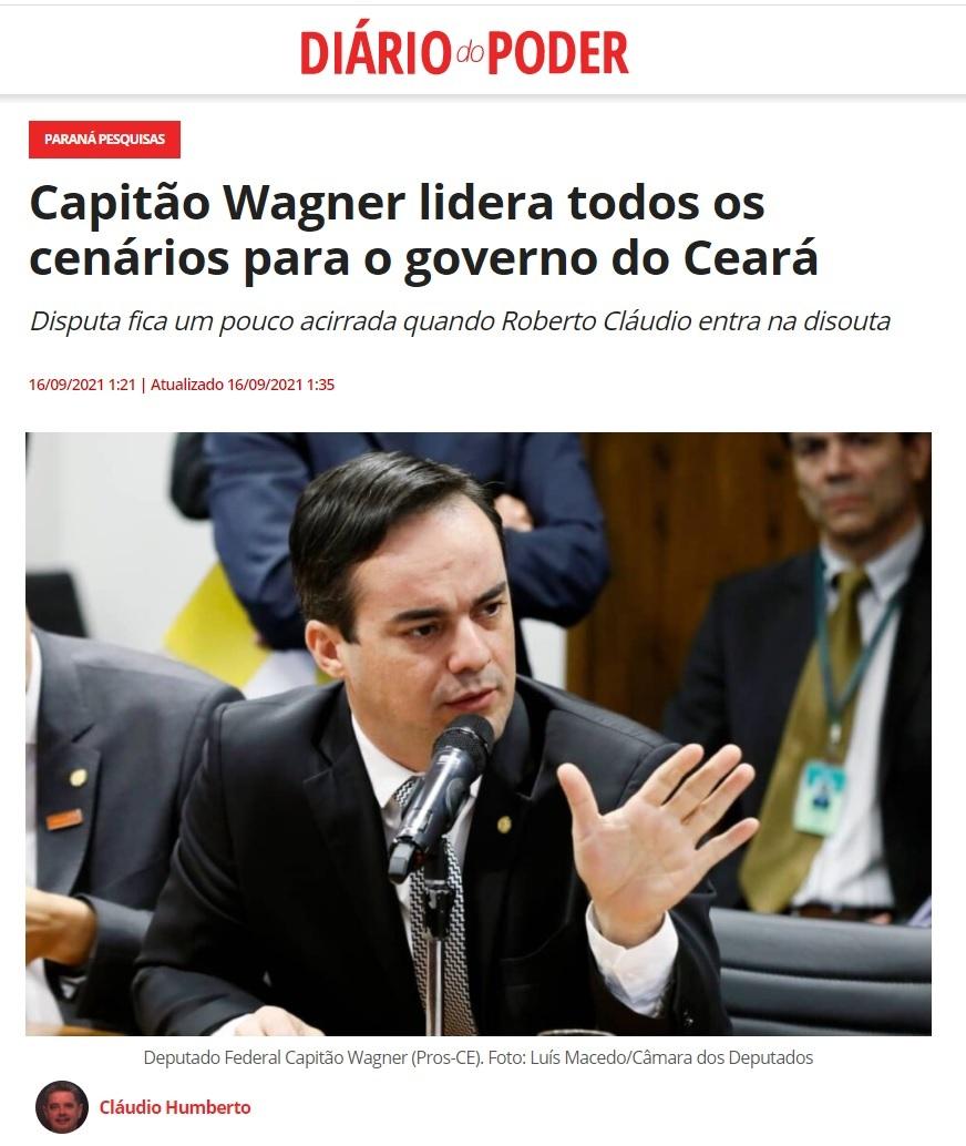 Diário do Poder divulga pesquisa realizado pela Paraná Pesquisas