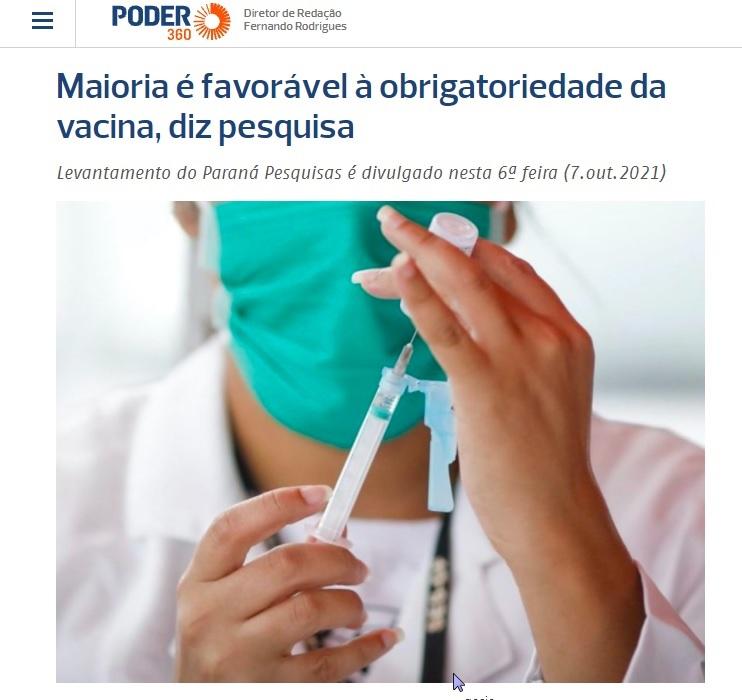 Poder 360 divulga pesquisa nacional realizado pela Paraná Pesquisas